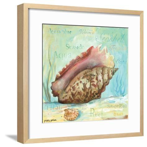 Marine Life Motif V-Gregory Gorham-Framed Art Print