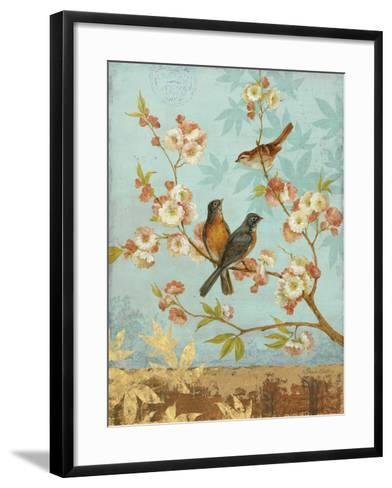Robins & Blooms-Pamela Gladding-Framed Art Print