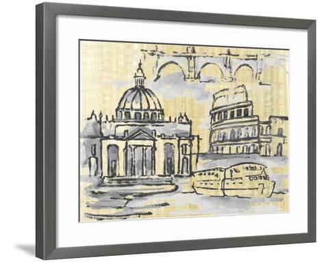 Cities III-Margaret Ferry-Framed Art Print