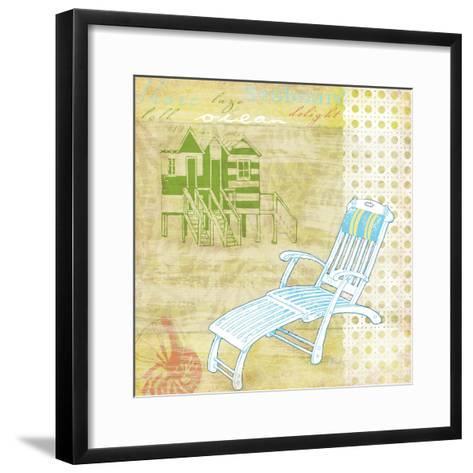 Cabana Beach Citrus Collage II-Paul Brent-Framed Art Print
