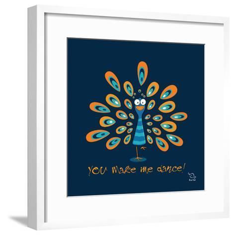 Dancing Feet- Blue Fish-Framed Art Print