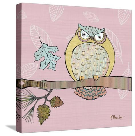 Pastel Owls III-Paul Brent-Stretched Canvas Print
