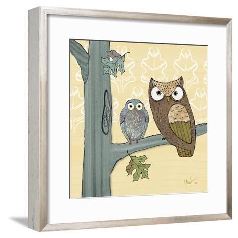 Pastel Owls IV-Paul Brent-Framed Art Print