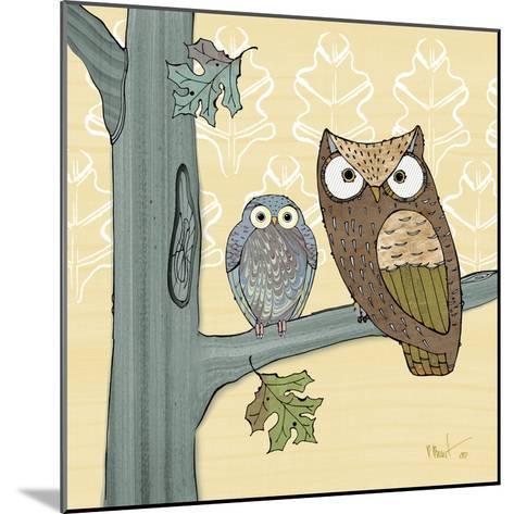 Pastel Owls IV-Paul Brent-Mounted Art Print