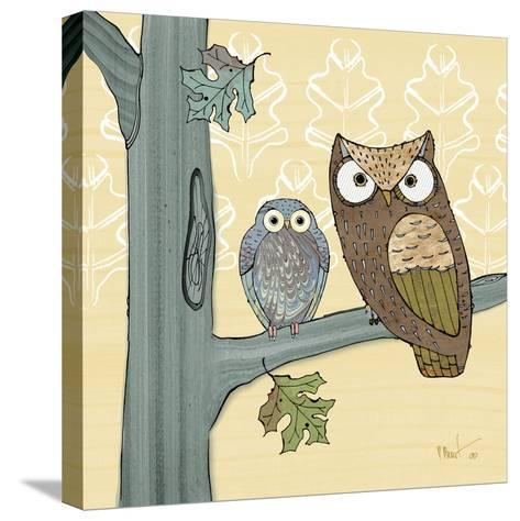 Pastel Owls IV-Paul Brent-Stretched Canvas Print
