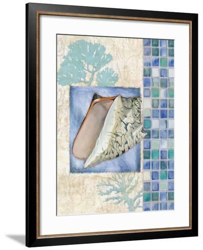 Mosaic Shell Collage III-Paul Brent-Framed Art Print