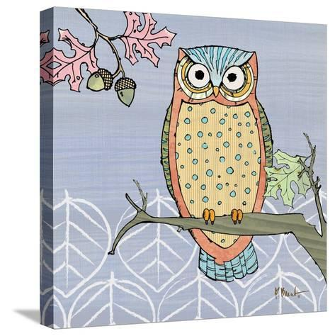 Pastel Owls II-Paul Brent-Stretched Canvas Print