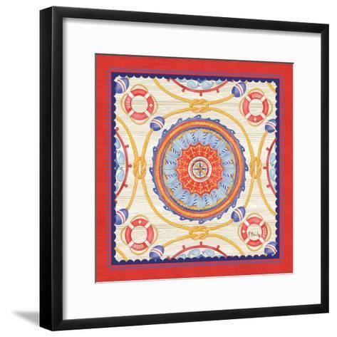 Red Nautical Suzani II-Paul Brent-Framed Art Print