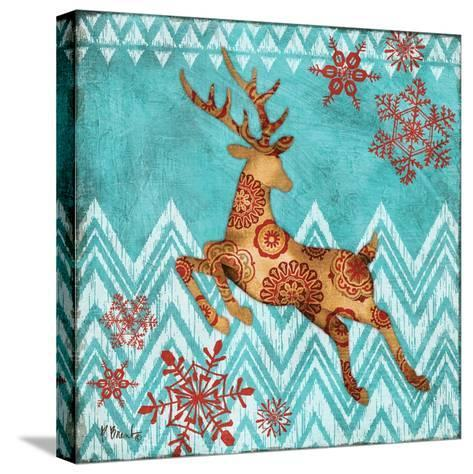 Ice Reindeer Dance II-Paul Brent-Stretched Canvas Print