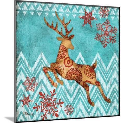 Ice Reindeer Dance II-Paul Brent-Mounted Art Print
