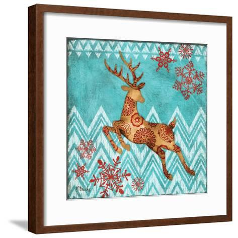 Ice Reindeer Dance II-Paul Brent-Framed Art Print