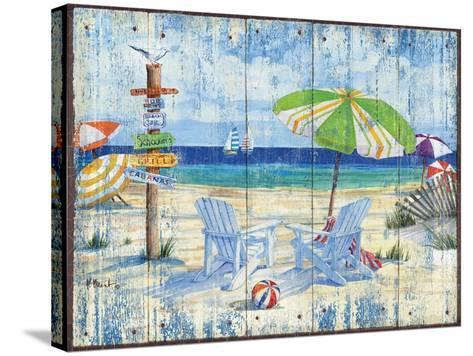 Beach Signs I-Paul Brent-Stretched Canvas Print