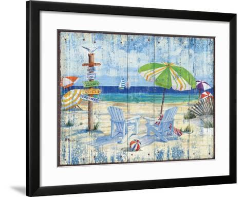 Beach Signs I-Paul Brent-Framed Art Print