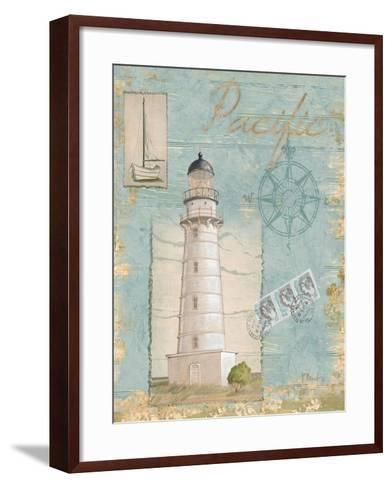 Seacoast Lighthouse II-Paul Brent-Framed Art Print