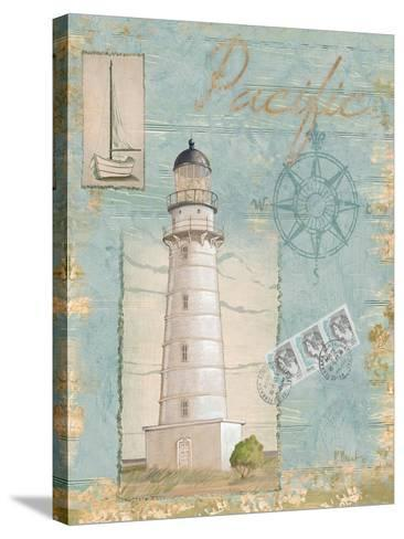 Seacoast Lighthouse II-Paul Brent-Stretched Canvas Print