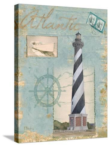 Seacoast Lighthouse I-Paul Brent-Stretched Canvas Print
