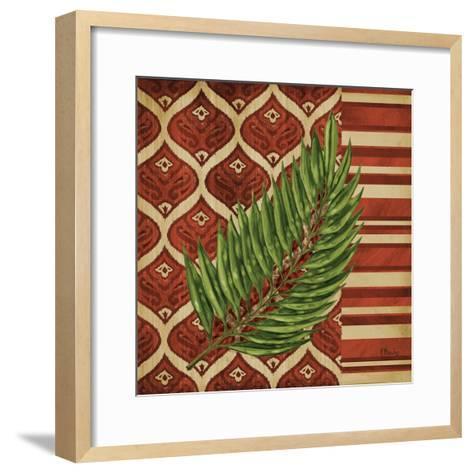 Sunset Cay Palm IV-Paul Brent-Framed Art Print