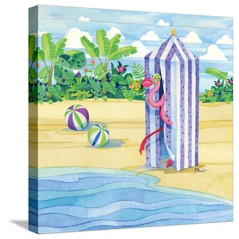 Cabana Flamingo-Paul Brent-Stretched Canvas Print
