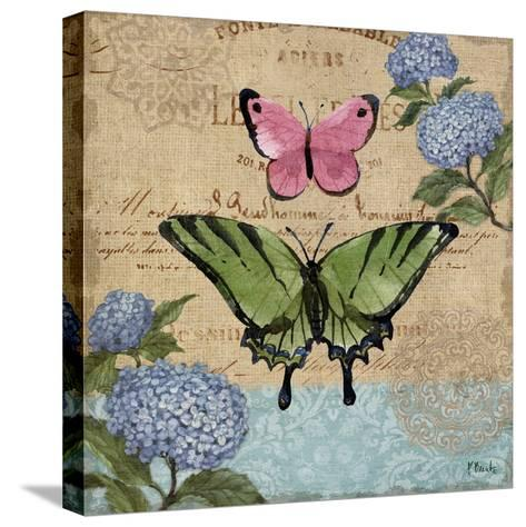 Burlap Butterflies I-Paul Brent-Stretched Canvas Print