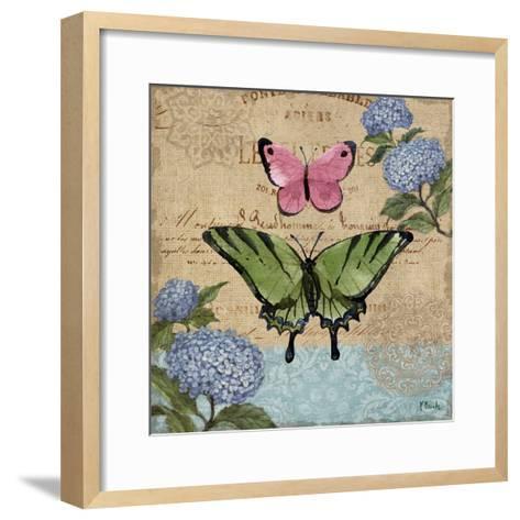 Burlap Butterflies I-Paul Brent-Framed Art Print