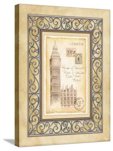 London Postcard-Andrea Laliberte-Stretched Canvas Print
