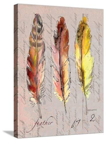 Three Feathers II-Gregory Gorham-Stretched Canvas Print