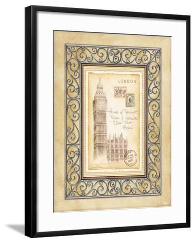 London Postcard-Andrea Laliberte-Framed Art Print