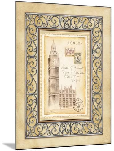 London Postcard-Andrea Laliberte-Mounted Art Print