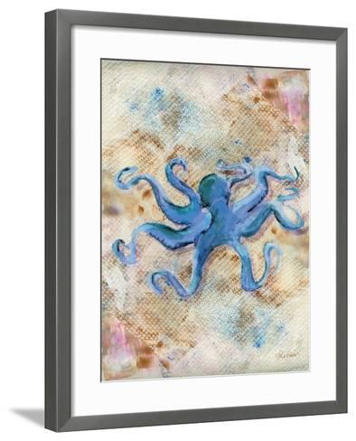 Blue Octopus-LuAnn Roberto-Framed Art Print