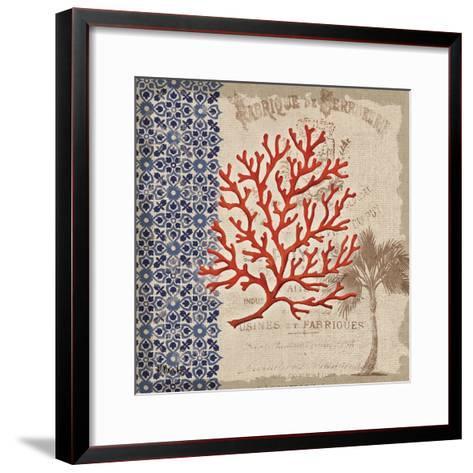 Burlap Coral I-Paul Brent-Framed Art Print