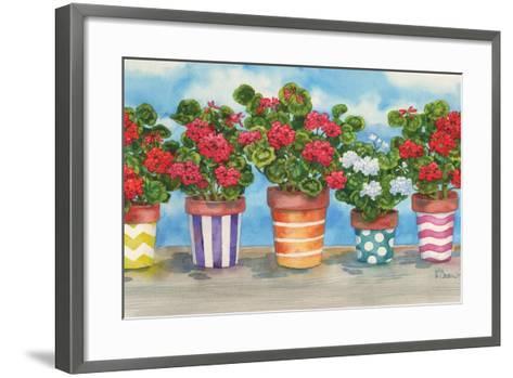 Fancy Pots Geraniums-Paul Brent-Framed Art Print