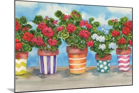 Fancy Pots Geraniums-Paul Brent-Mounted Art Print
