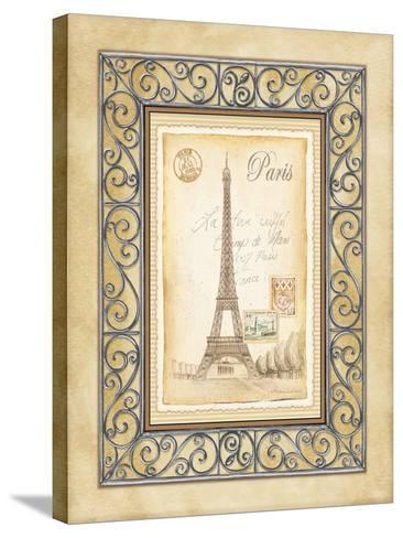 Paris Postcard-Andrea Laliberte-Stretched Canvas Print
