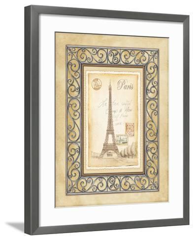 Paris Postcard-Andrea Laliberte-Framed Art Print