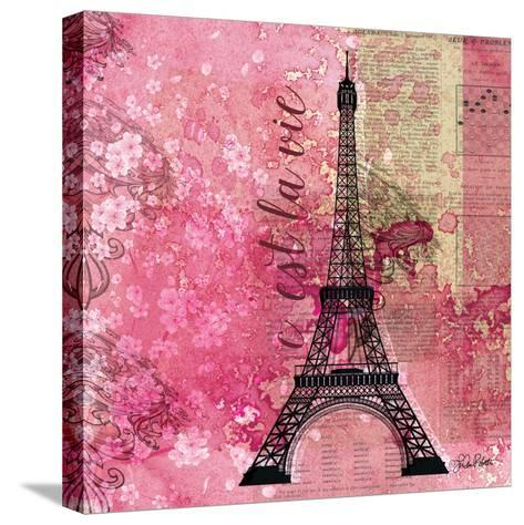 Pink Paris-LuAnn Roberto-Stretched Canvas Print