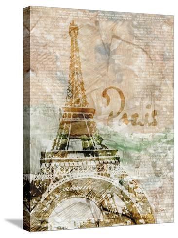 Sepia Paris-LuAnn Roberto-Stretched Canvas Print