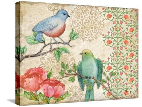 Blossoming Birds II-Paul Brent-Stretched Canvas Print