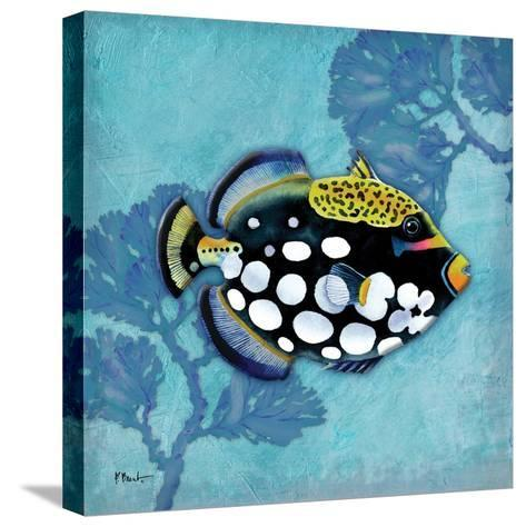 Azure Tropical Fish III-Paul Brent-Stretched Canvas Print