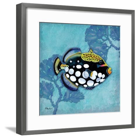 Azure Tropical Fish III-Paul Brent-Framed Art Print