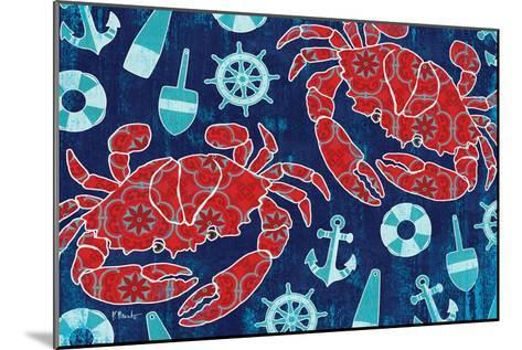 Pattern Crabs-Paul Brent-Mounted Art Print