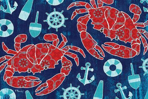 Pattern Crabs-Paul Brent-Stretched Canvas Print