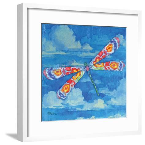 Wild Blue Dragonfly-Paul Brent-Framed Art Print