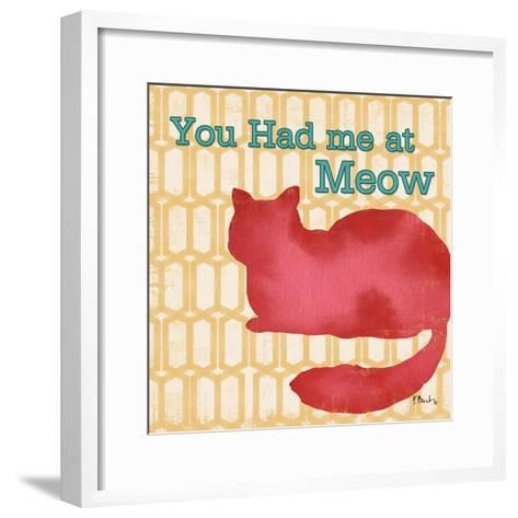 Patterned Pets Cat II-Paul Brent-Framed Art Print