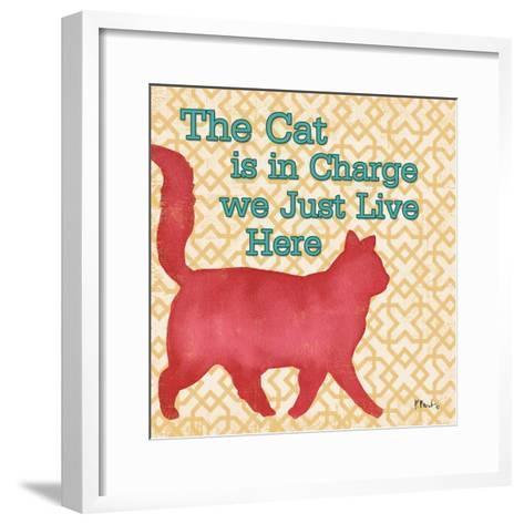 Patterned Pets Cat III-Paul Brent-Framed Art Print