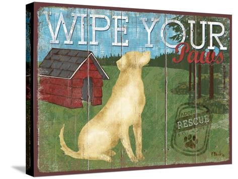 Wipe Your Paws-Paul Brent-Stretched Canvas Print