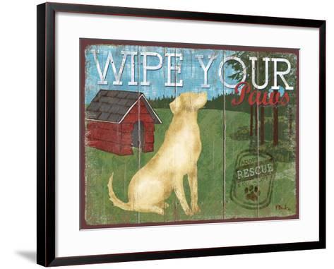 Wipe Your Paws-Paul Brent-Framed Art Print