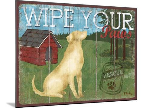 Wipe Your Paws-Paul Brent-Mounted Art Print
