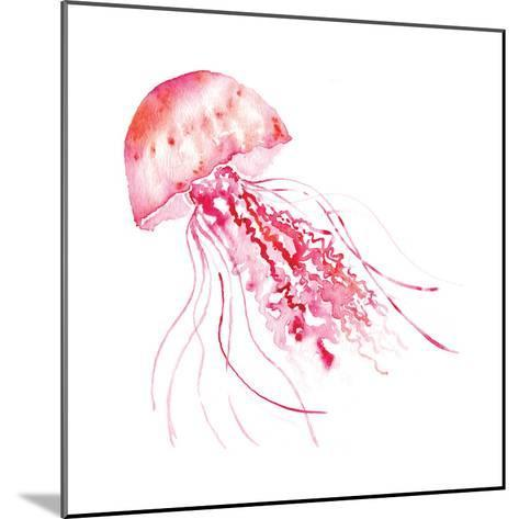 Pink Jellyfish-Sara Berrenson-Mounted Art Print