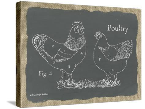 Poultry on Burlap-Gwendolyn Babbitt-Stretched Canvas Print