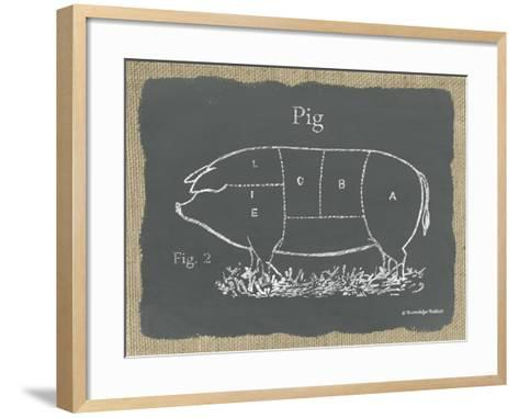 Pig on Burlap-Gwendolyn Babbitt-Framed Art Print